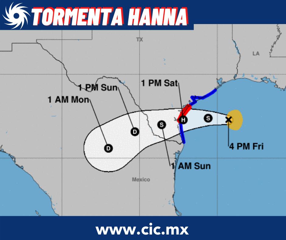 Monitoreo de la Tormenta Tropical Hanna